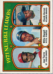 1972 Topps Baseball Cards      087      Joe Torre/Willie Stargell/Hank Aaron LL